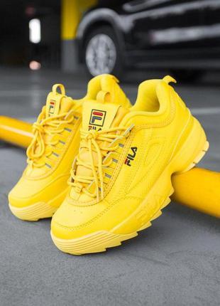 """Шикарные кроссовки fila disruptor 2 """"yellow"""" унисекс 😍 (весна/..."""