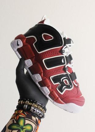 Шикарные кроссовки nike air more uptempo red black white. унис...