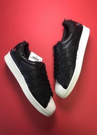 Шикарные кроссовки adidas superstar black white унисекс 😍 (вес...