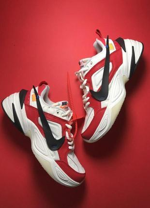 Шикарные мужские кроссовки nike m2k tekno white red 😍 (весна/ ...