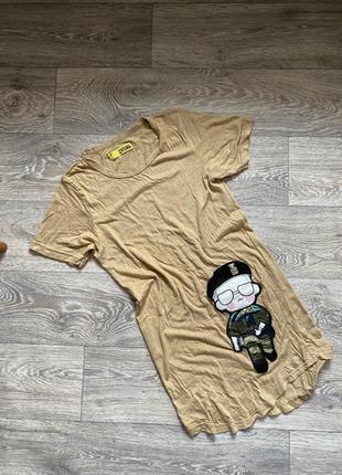 Платье футболка удлинённая fendi размер м