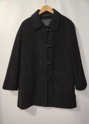 Canda короткое шерстяное демисезонное пальто прямого кроя