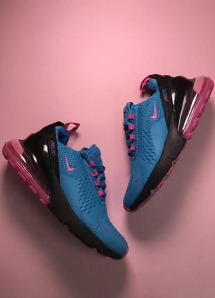 Шикарные женские кроссовки nike air max 270 blue pink 😍 (весна...