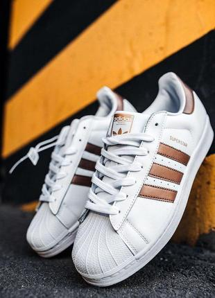 Шикарные мужские кроссовки adidas superstar white/gold 😍 (весн...