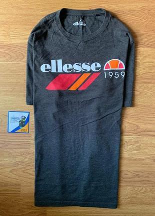 Шикарная мужская футболка ellesse серого цвета с большим лого 😍