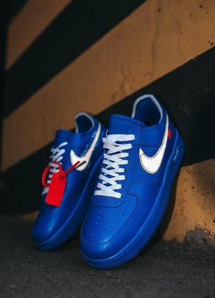 Мужские кроссовки nike air force 1 off-white blu рефлективные ...
