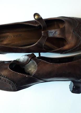 Туфли на широкую ножку,41-42 размер marco tozzi стелька 27 см,...