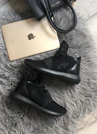 Шикарные женские кроссовки adidas tubular defiant black  😍 (ве...