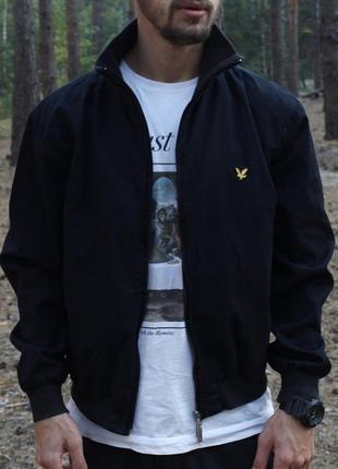 Шикарная мужская осенняя куртка/ харик  lyle & scott чёрного ц...