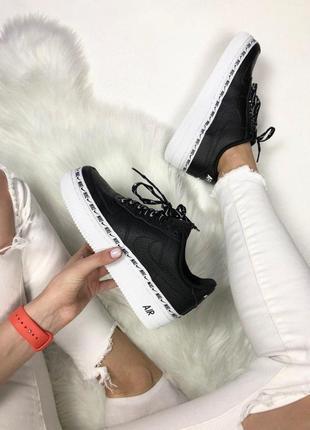 Шикарные кроссовки nike air force 1 '07 se premium black унисе...