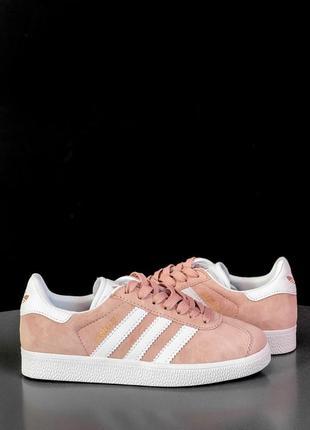 Шикарные женские кроссовки adidas gazelle pink розового цвета ...