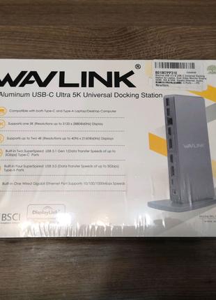 Док станция Wavlink Aluminum USB-C Ultra 5K