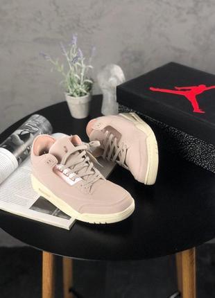 Шикарные женские кроссовки nike air jordan 3 retro particle be...