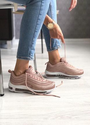 Шикарные женские кроссовки nike air max 97 swarovsi gold 😍 (ве...