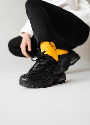 Шикарные кроссовки nike air max 95, triple black унисекс 😍 (ве...