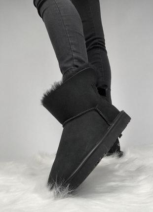 Шикарные женские зимние угги/ сапоги с мехом ugg mini bailey b...