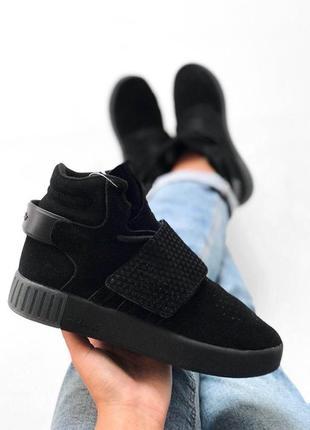 Шикарные мужские кроссовки adidas tubular black  😍  (осень/ ев...