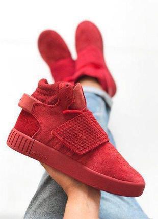Шикарные женские осенние кроссовки adidas tubular red 😍 (осень...