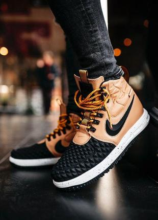 Мужские кроссовки nike lunar force 1 duckboot '17 gs black/bei...
