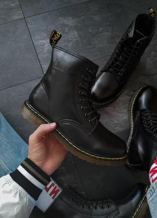 Мужские осенние кожаные ботинки/ сапоги dr. martens 1460 black 😍
