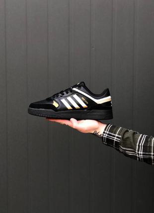 Кроссовки adidas drop step black gold