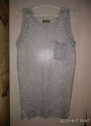 Кофта сетка сірого кольору