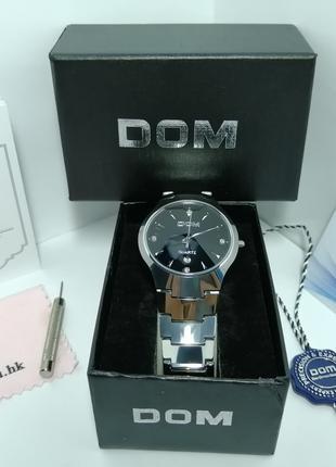 Часы DOM стекло сапфир! Оригинал! Новые. Цвет серебро