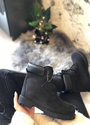 Шикарные зимние ботинки timberland black fur унисекс 😍 (зима)
