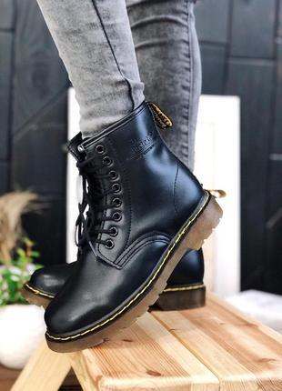 Шикарные женские осенние ботинки dr. martens 1460 black 😍 (тер...