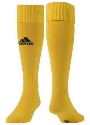 Гетры футбольные adidas milano sock (желтые) e19295 размер 37-39