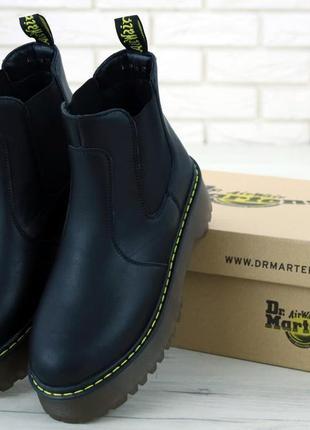 Женские осенние ботинки на платформе dr.martens platform chels...