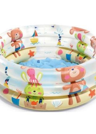Детский бассейн круглый Intex, 61х22 см, 33 л