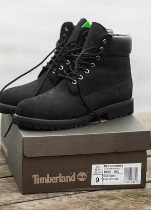 Шикарные женские зимние ботинки  timberland black 😍 (с мехом)