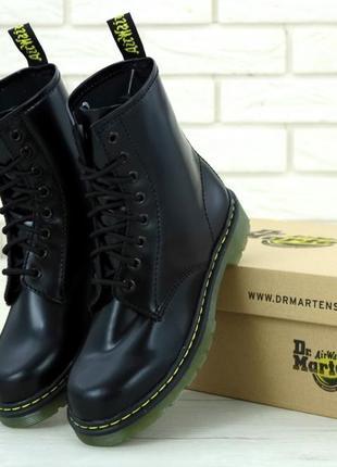 Женские осенние ботинки на платформе dr. martens 1460 black 😍 ...