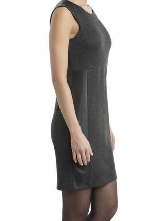 Стильное  трикотажное платье со вставками эко кожи opus
