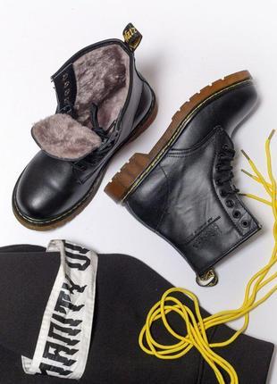 Шикарные женские кожаные ботинки/ сапоги dr. martens 1460 blac...