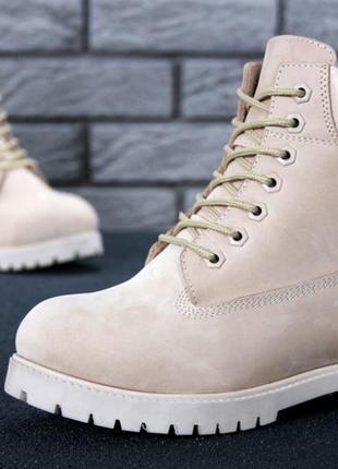 Шикарные зимние женские ботинки timberland beige fur 😍 (зима/ ...