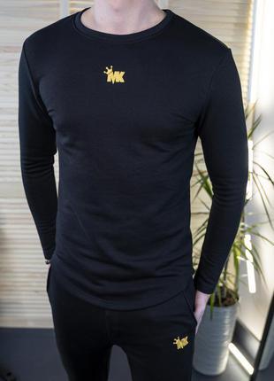 Мужская толстовка свитшот черная/ украина