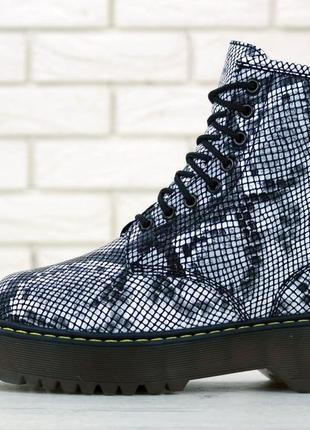 Женские зимние ботинки/ сапоги на платформе dr. martens jadon ...