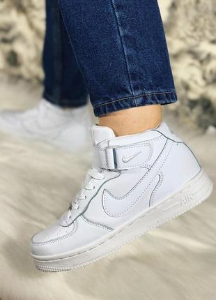 Шикарные женские зимние кроссовки nike air force 1 high white ...