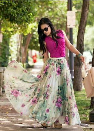 Божественная, невероятно- красивая юбка в пол