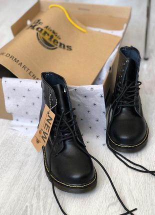 Шикарные мужские кожаные ботинки/ сапоги dr. martens 1460 black 😍