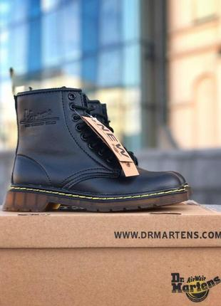 Шикарные кожаные ботинки/ сапоги dr. martens 1460 black fur 😍 ...