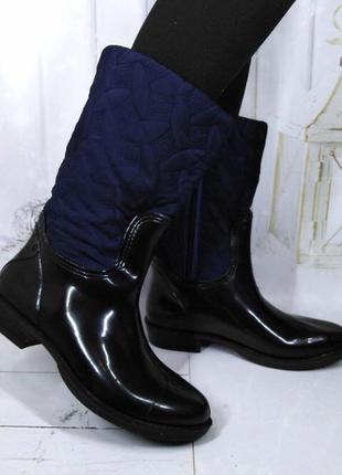 Женские стильные резиновые сапоги