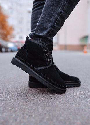 Шикарные мужские зимние угги/ сапоги/ ботинки ugg neumel black...