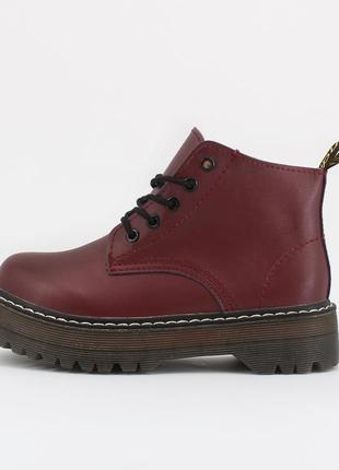 Шикарные женские кожаные ботинки/ ботильоны на платформе 😍 (бе...