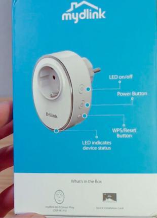 Розумна розетка D-Link Wi-Fi Smart Plug (DSP-W115)