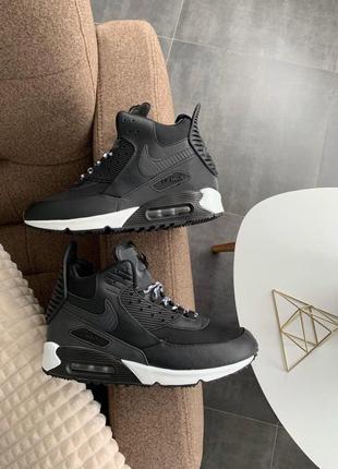 "Шикарные мужские кроссовки nike air max 90 sneakerboot ""black/..."