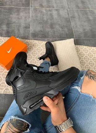 "Шикарные мужские кроссовки nike air max 90 sneakerboot ""black""..."