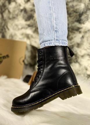 Шикарные кожаные женские ботинки/ сапоги dr. martens classic 1...